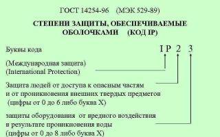Гост 14254-96 (мэк 529-89): степени защиты, обеспечиваемые оболочками (код ip).