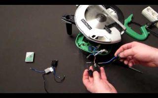 Как подключить двигатель в циркулярной пиле festool напрямую?