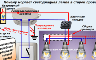 Почему мигает выключенная светодиодная лампа на балконе?