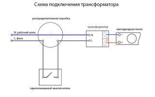 Подключение светодиодной ленты к двойному выключателю