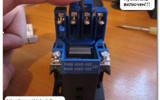При проверке в пм с катушкой 380в на кнопке пуск показывает разноименные фазы