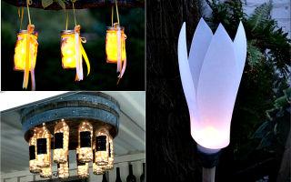 Идеи сборки уличного фонаря из подручных средств