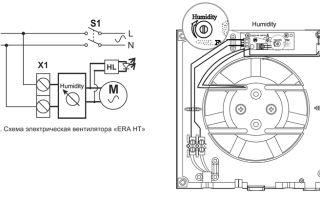 Доработка схемы бытового вентилятора с датчиком влажности