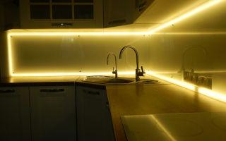 Как сделать подсветку фартука на кухне?