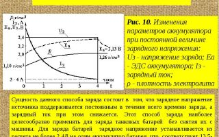 Определение способа заряда аккумуляторной батареи от зарядного устройства