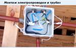 Рекомендации по прокладке электропроводки в трубах