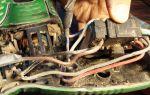 Подключение проводов в разобранном измельчителе cmi 2500