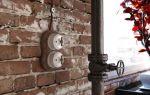 Как провести скрытую проводку в кирпичной перегородке в стиле лофт?