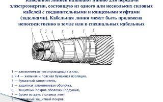 Конструктивные особенности проводов и кабелей