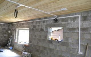 Нужно ли защищать кабель при открытой проводке в гараже?