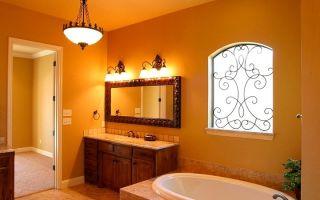 Как сделать свет в ванной комнате?