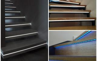 Делаем светодиодную подсветку ступеней лестницы