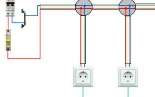 Можно ли подключить провода от выключателя и розеток к одному автомату?