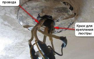 Почему на люстре имеется отверстие, через которое видно провода?