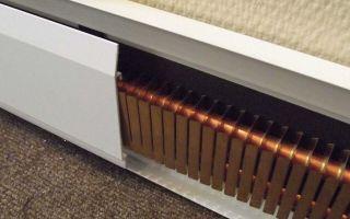 Обзор электрического отопления плинтусного типа