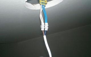 Какой провод выбрать для подключения точечных светильников