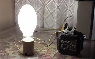 Можно ли подключать лампу дрл-250 в обычный плафон?