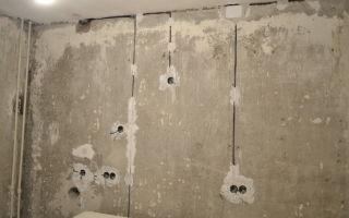 Можно ли штробить несущие стены под электрику?