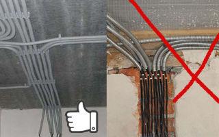 Допускается ли пересечение проводов в гофре при монтаже проводки?