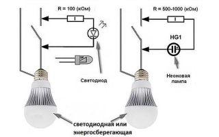 Моргают led лампочки и лента при выключении лампы дневного света