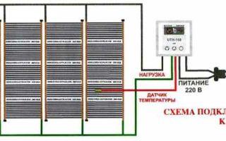 Схемы подключения пленочного теплого пола к сети