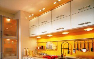 Почему мигают точечные светильники только над кухонным столом?